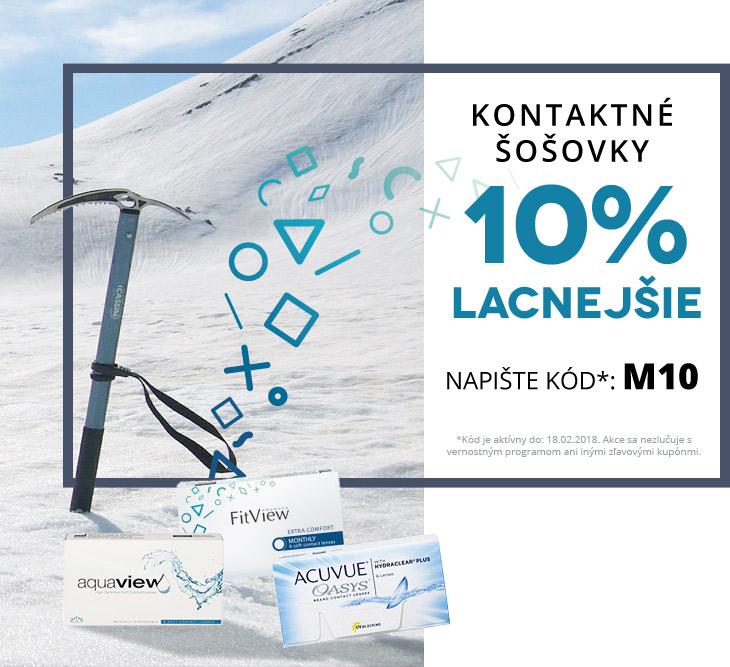 379f1d134 Kontaktné šošovky lacnejšie o 10% - Kontakto.sk