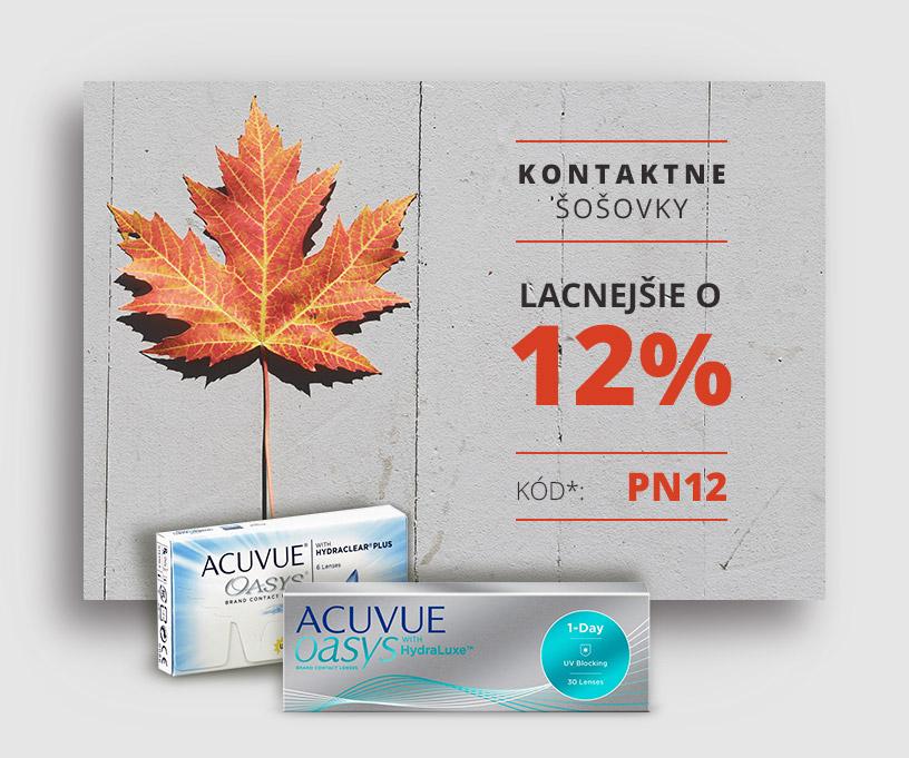 1213319ed Kontaktné šošovky lacnejšie o 12% - Kontakto.sk