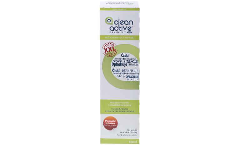 Clean Active Premium XXL 600 ml- Pre citlivé oči! + roztok Zadarmo! (ku 2 bal.)