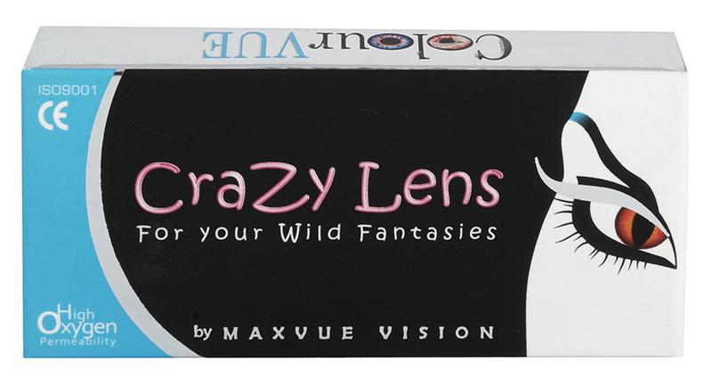 Crazy Lens UV Glow (2 šošovky) -  žiariace šošovky v UV
