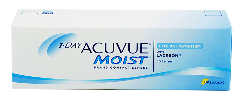 1-DAY ACUVUE MOIST for ASTIGMATISM 30 šošoviek