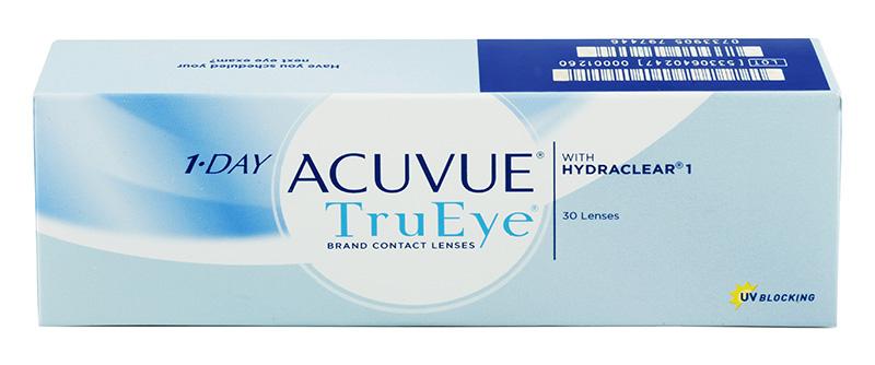 Acuvue® 1-Day TRUEYE (30 šošoviek) +  Púzdro na šošovky GRATIS! (Do 2 bal.)