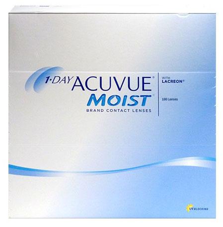 Acuvue® 1-Day Moist (180 šošoviek) + šošovky Zadarmo (ku 2 bal.)