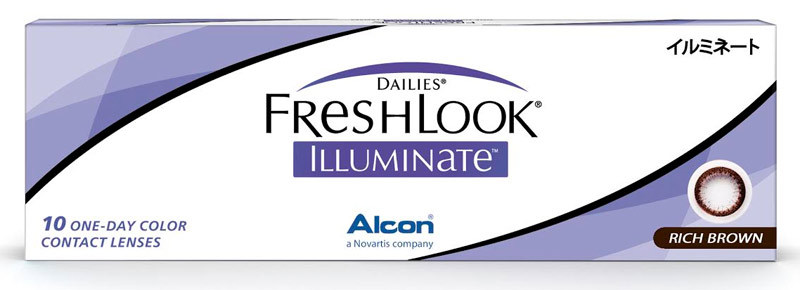 Dailies Freshlook Illuminate 1-Day Rich brown 10 šošoviek - nedioptrické
