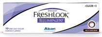 Dailies® Freshlook® Illuminate™ 1-Day Rich brown 10 šošoviek - dioptrické