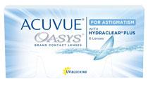 Acuvue® Oasys for Astigmatism 6 šošoviek + Roztok ZDARMA! (ke 2 bal.)